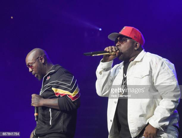 Sleepy Brown and Big Boi perform during V103 Live Pop Up Concert at Philips Arena on March 25 2017 in Atlanta Georgia