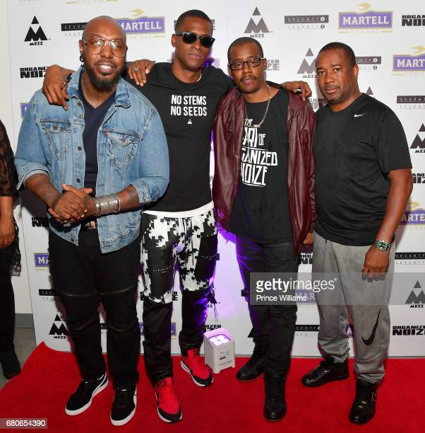 Sleepy Brown Rico Wade Ray Murray and Orlando McGhee attend an Evening of Listening with Organized Noize at The B Loft on May 4 2017 in Atlanta...