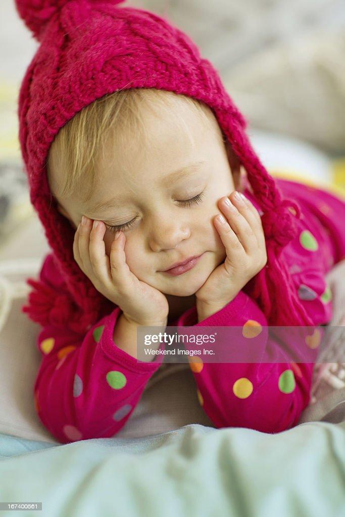 Sleepy toddler : Stock Photo