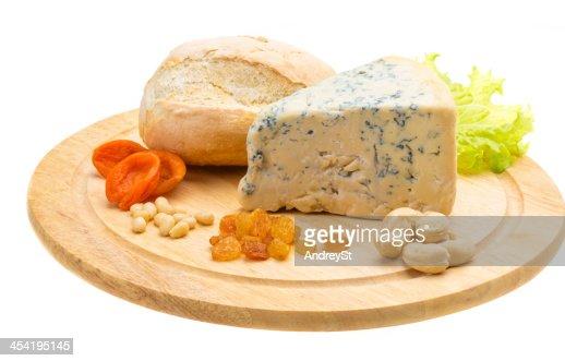 Fatia de Queijo Azul : Foto de stock