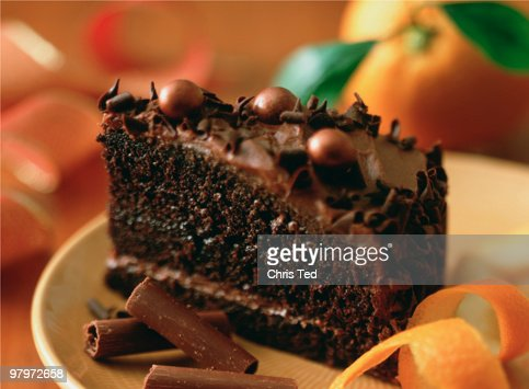 Slice of chocolate cake : Stock Photo