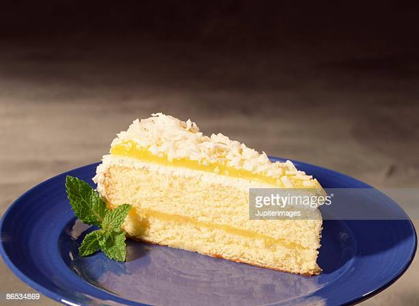 Slice of lemon layer cake