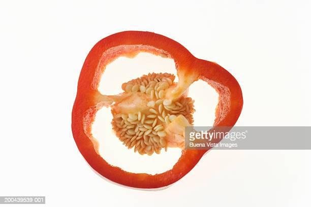 Slice of red pepper