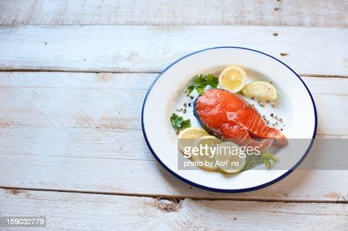Slice of salmon : Foto de stock