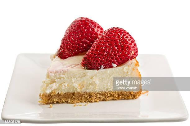 Tranche de Cheesecake à la fraise