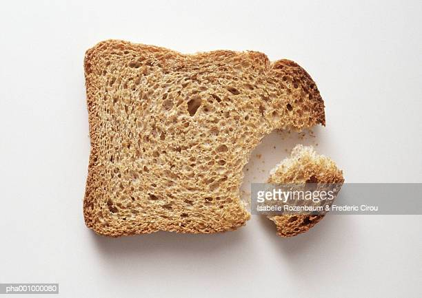 Slice of toasted bread, close-up