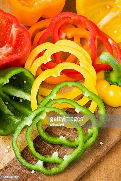 Sliced Bell Peppers - Vertical