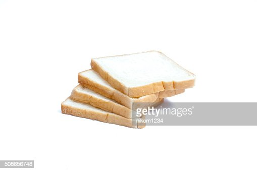 sliced bread isolated on white background : Stock Photo