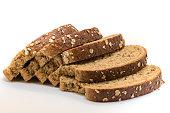 Closeup of sliced wholegrain bread, very healty to eat.