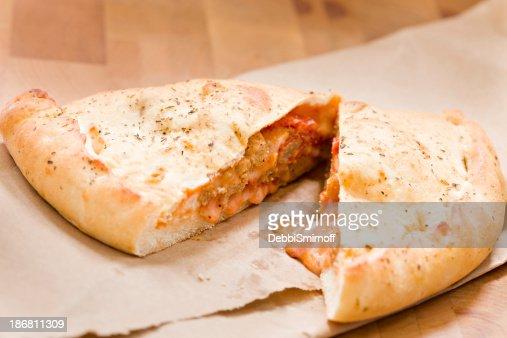 Sliced Calzone