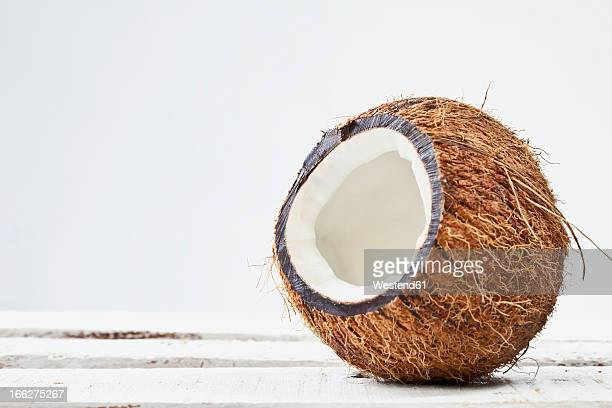 Sliced Coco nut, close up