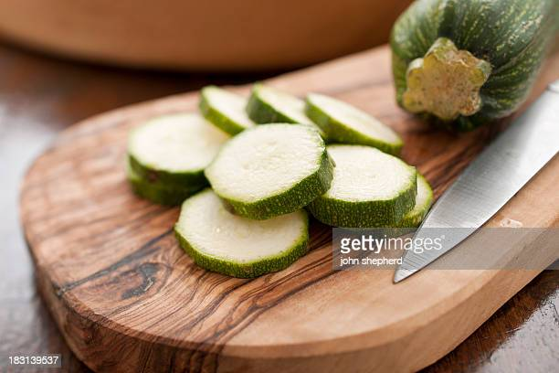 sliced courgette