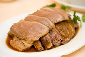 Sliced duck traditional Chinese dish