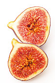 Sliced fig, close-up