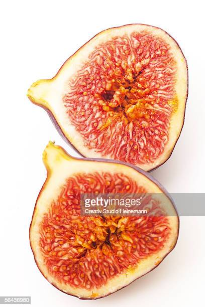 Sliced fig, close-up