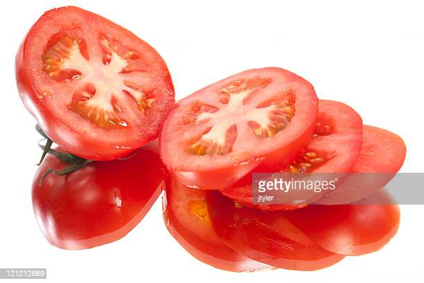 Tranches de tomates fraîches