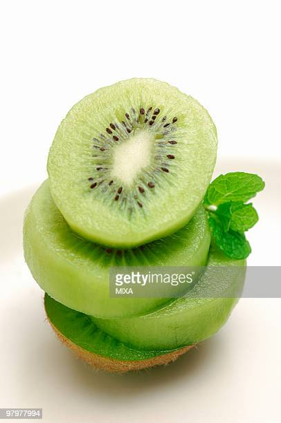 Sliced Kiwi Fruit and Mint