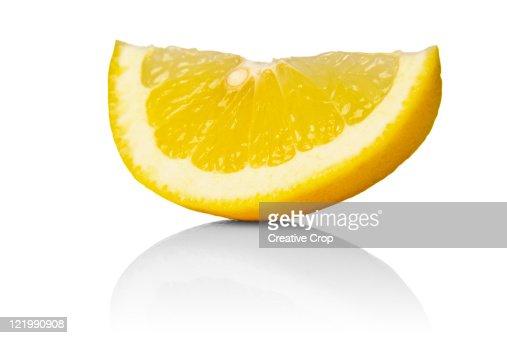 Sliced lemon wedge