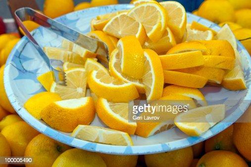 Sliced lemons : Stock Photo
