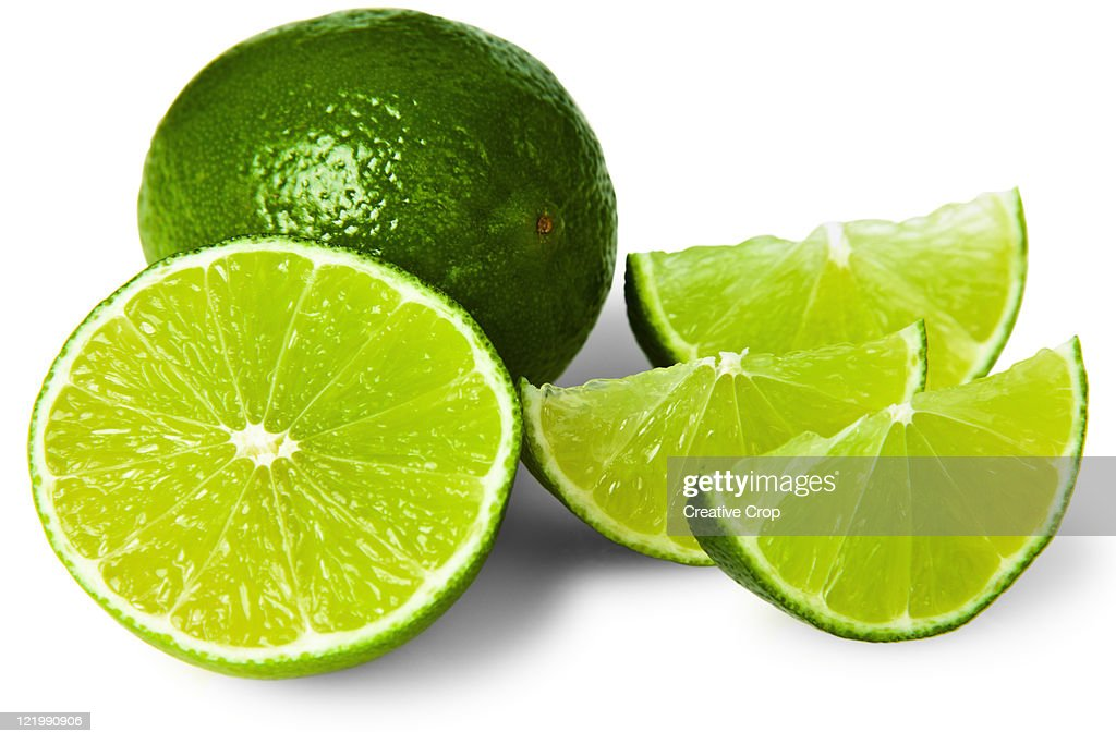 Sliced lime wedge : Stock Photo