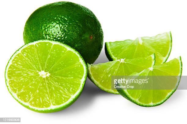 Sliced lime wedge