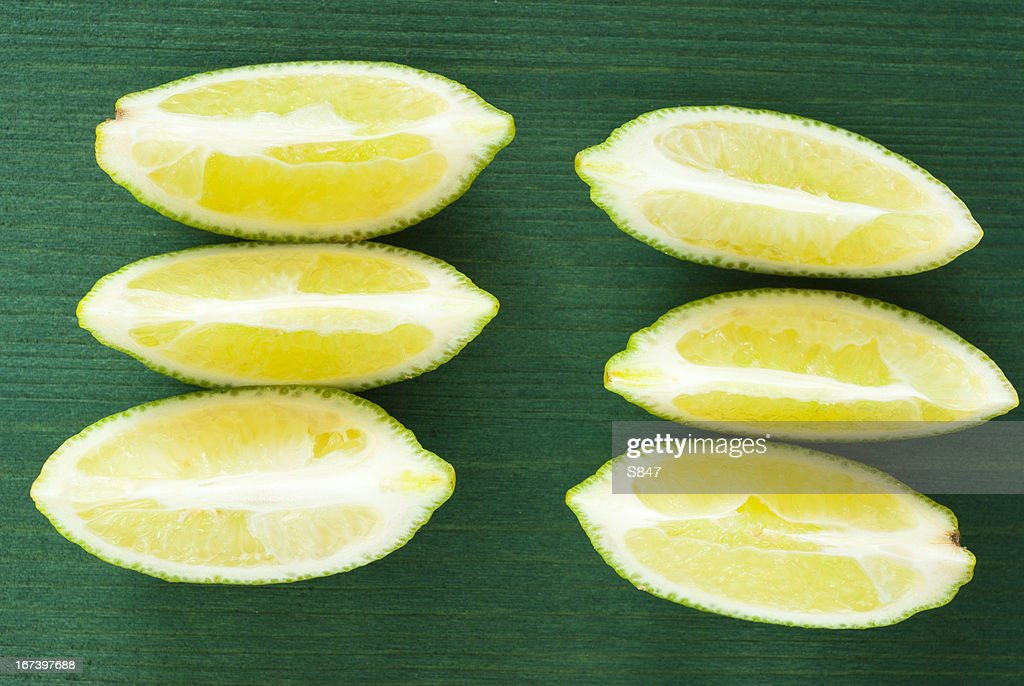 Sliced limes : Stock Photo