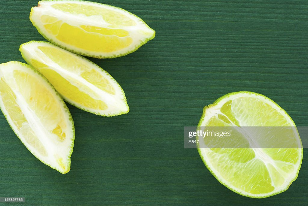 Sliced limes : Stock Photo