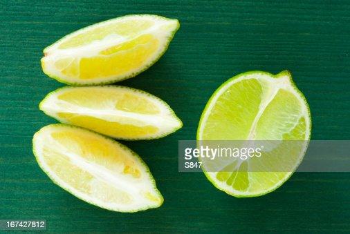 Rodajas limes : Foto de stock