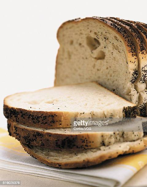 Sliced Loaf of Poppyseed Bread