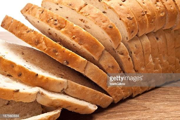 Tranches de Miche de pain complet