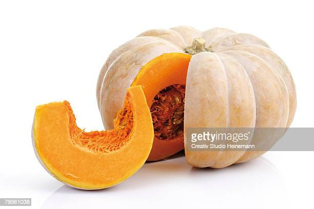 'Sliced musky pumpkin, close-up'