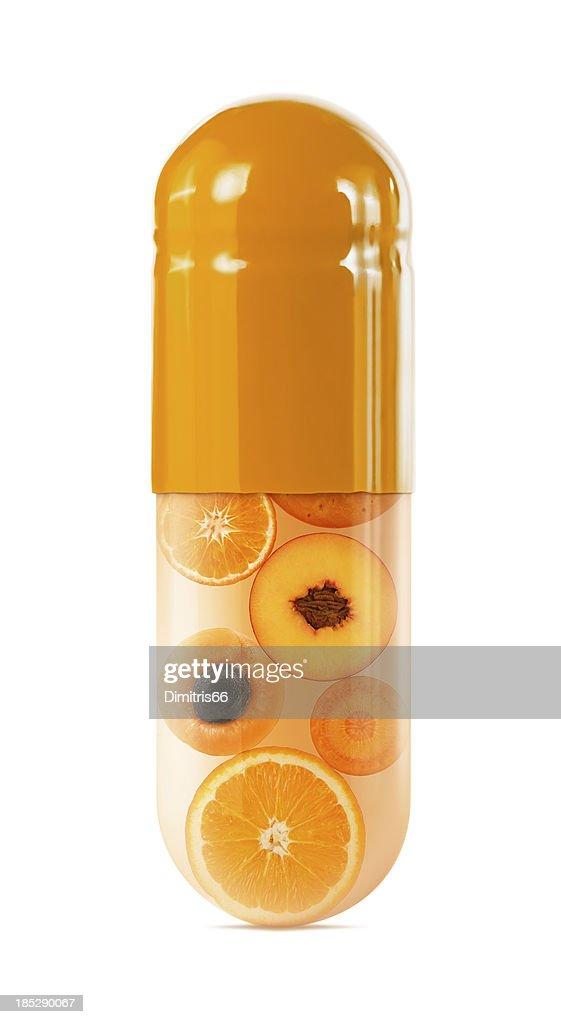 Tranches d'orange déclinée dans grande sélection sur blanc : Photo