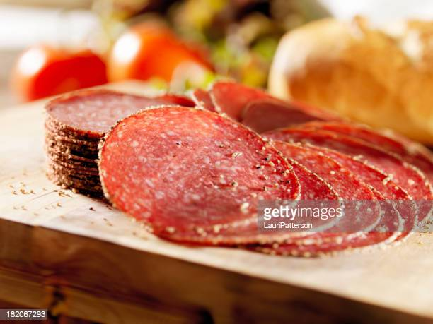 Sliced Peppered Salami