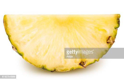 Sliced pineapple isolated on white background : Stock Photo