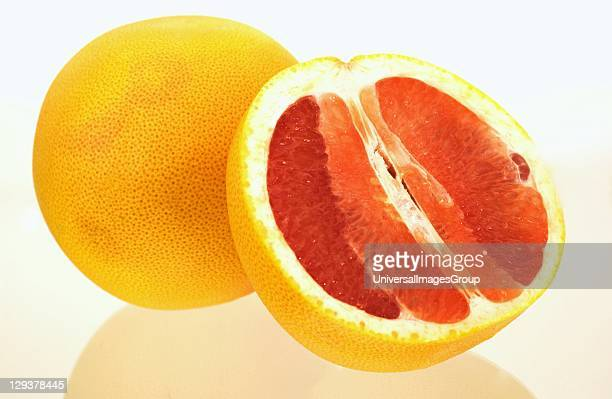 Sliced pink grapefruit Grapefruits are an excellent source of nutrients and photochemical as well as vitamin C pectin fiber and antioxidant lycopene