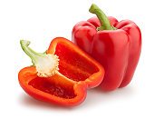 bell pepper isolated