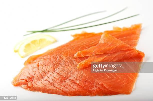 Tranches de saumon fumé