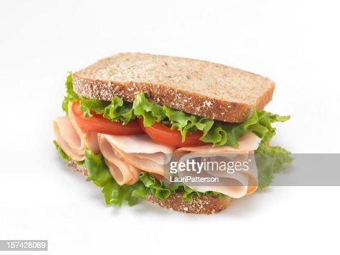 Sliced Smoked Turkey Sandwich