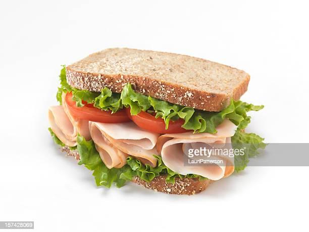 スライススモークターキーのサンドイッチ