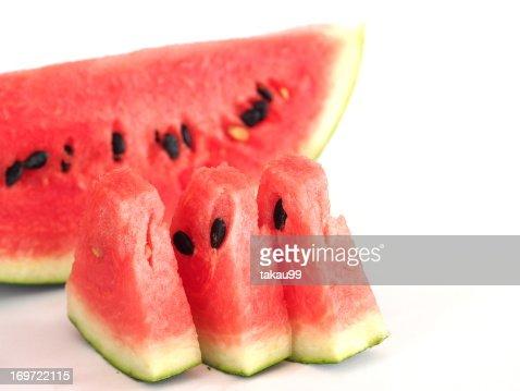 Sliced watermelon : Stock Photo