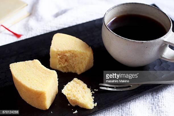 Slices of baumkuchen cake
