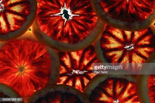 Slices of blood orange