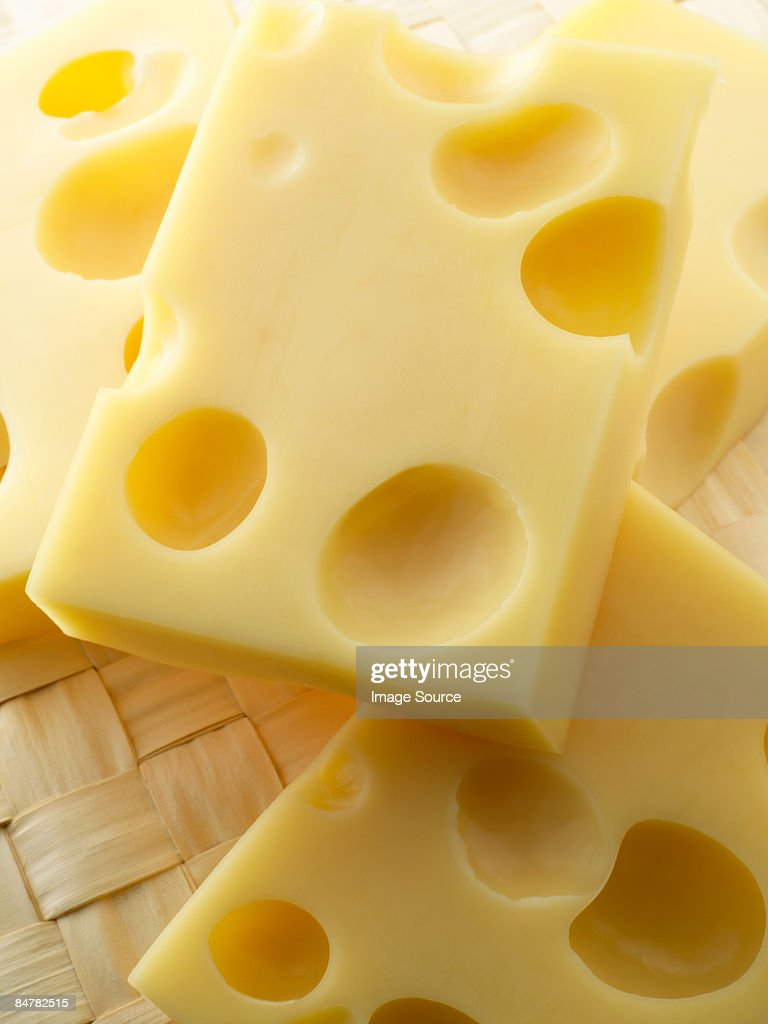 Slices of cheese : Stock Photo