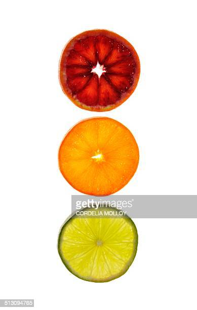 Slices of citrus fruit