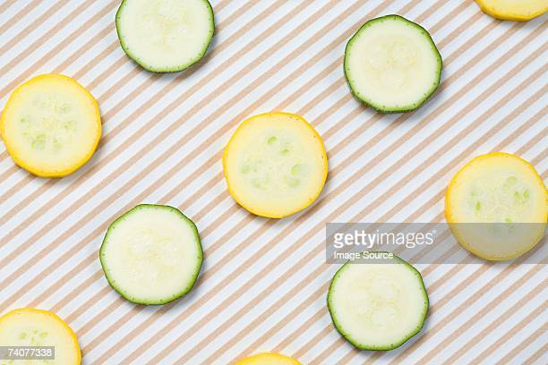 Slices of courgette