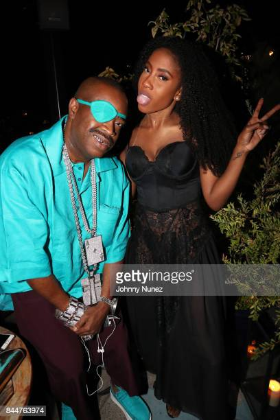 Slick Rick and Sevyn Streeter attend the Future x Flaunt x Reebok Celebration of 'The Eternal Issue Beyond Monuments' at Sixty Soho Hotel on...