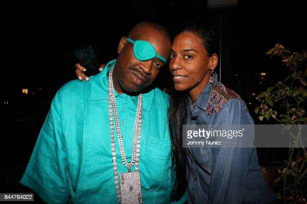 Slick Rick and wife Mandy Aragones attend the Future x Flaunt x Reebok Celebration of 'The Eternal Issue Beyond Monuments' at Sixty Soho Hotel on...
