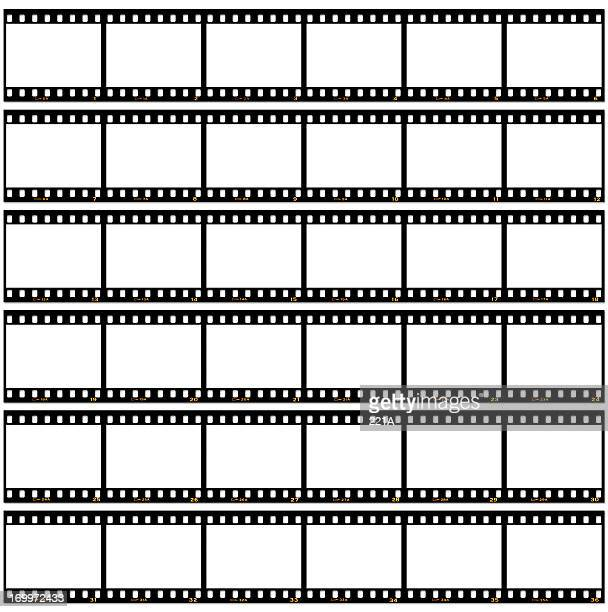 Slide film contact sheet on white