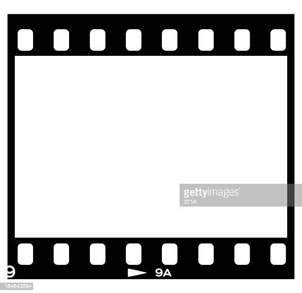 Folie film-frame auf Weiß