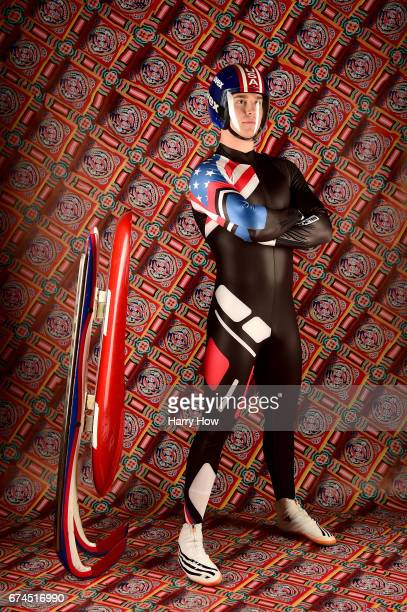 Slider Tucker West poses for a portrait during the Team USA PyeongChang 2018 Winter Olympics portraits on April 28 2017 in West Hollywood California